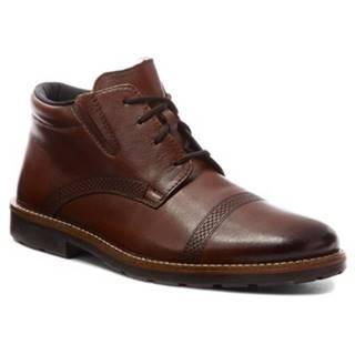 Šnurovacia obuv Rieker 15348-25 Prírodná koža(useň) - Lícova