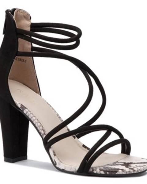 Čierne sandále DeeZee