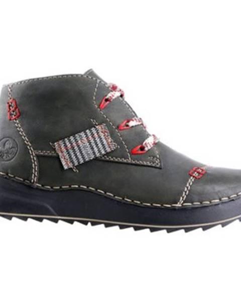 Zelené topánky Rieker