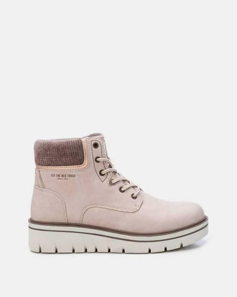 Svetloružové topánky Xti