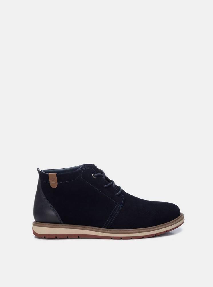 Xti Tmavomodré pánske semišové členkové topánky Xti