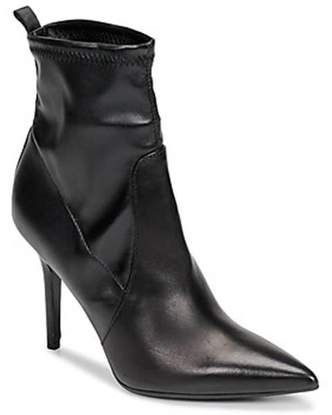 Čierne polokozačky Karl Lagerfeld