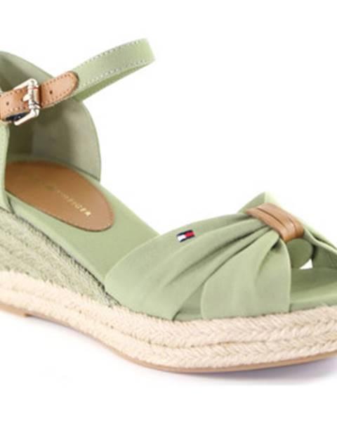 Zelené sandále Tommy Hilfiger