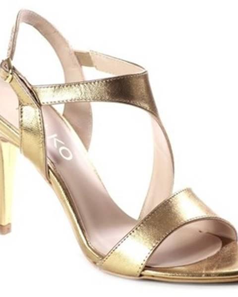 Zlaté sandále Ryłko