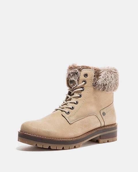 Krémová zimná obuv Wrangler