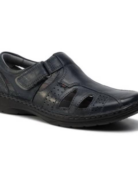 Tmavomodré sandále Lasocki for men