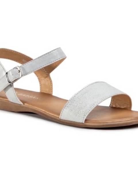 Strieborné sandále Bassano