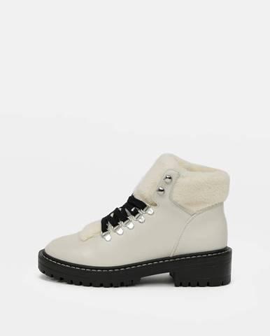 Krémová zimná obuv Only