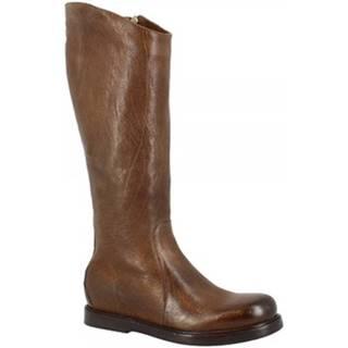 Čižmy do mesta Leonardo Shoes  W281-10 BUFALO MASTICE