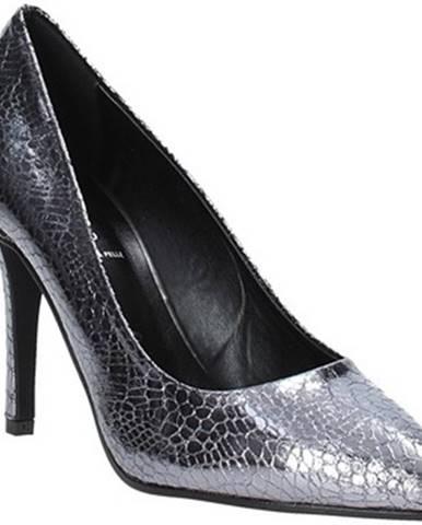 Strieborné lodičky Grace Shoes
