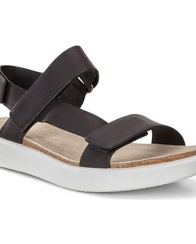 Čierne športové sandále Ecco