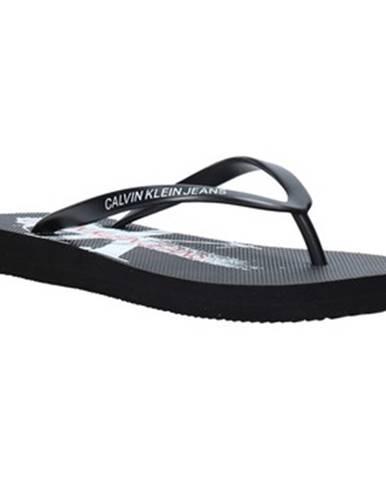 Čierne topánky Calvin Klein Jeans