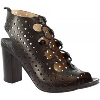Sandále Leonardo Shoes  Q266 KONS NERO