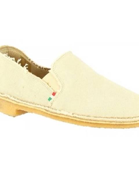 Béžové espadrilky Leonardo Shoes