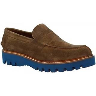 Mokasíny Leonardo Shoes  U180 CAMOSCIO AN