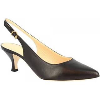 Lodičky Leonardo Shoes  665/VEGA NAPPA NERO