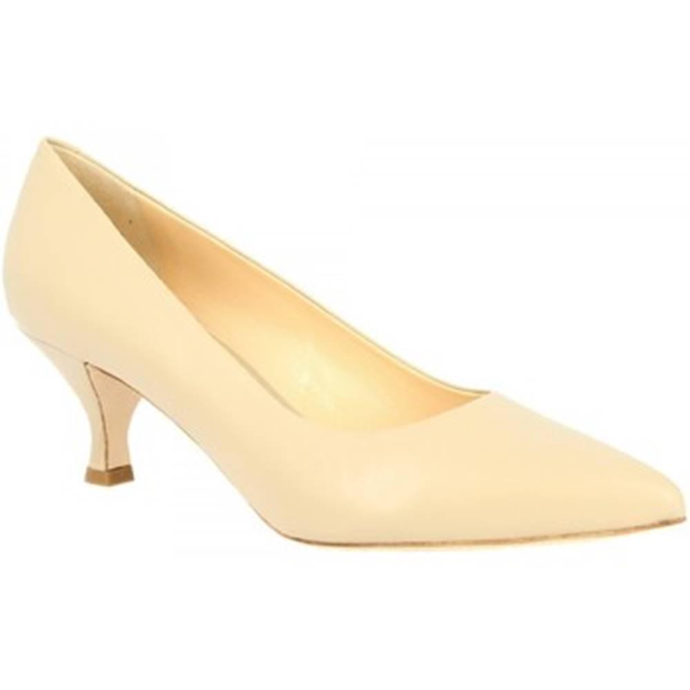 Leonardo Shoes Lodičky Leonardo Shoes  661/VEGA NAPPA CREMA
