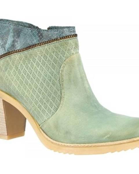 Modré čižmy Leonardo Shoes