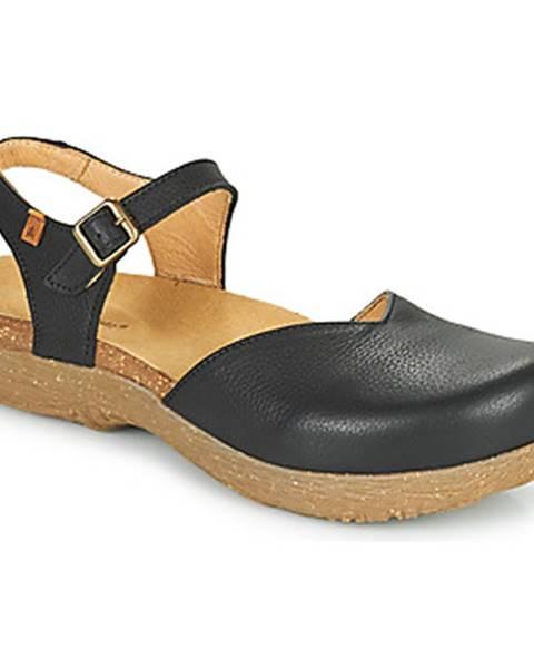 Čierne sandále El Naturalista