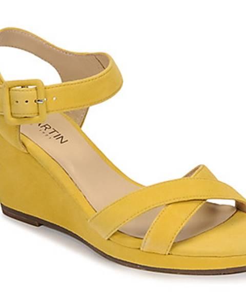 Žlté sandále JB Martin