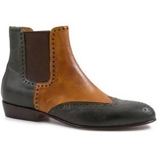 Čižmičky Leonardo Shoes  PINA 044 VERDE/CUOIO