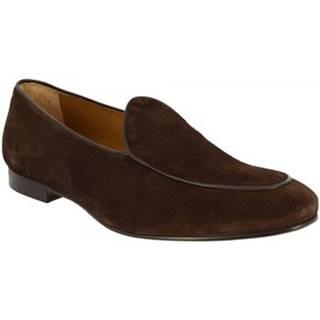Mokasíny Leonardo Shoes  1085_7 PE CAMOSCIO T.M