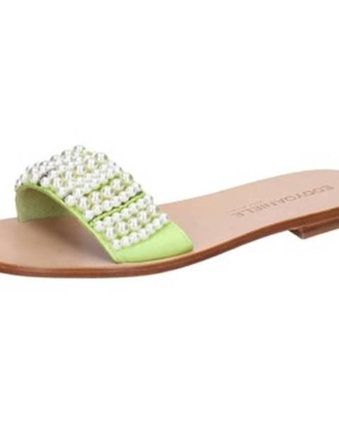 Zelené sandále Eddy Daniele