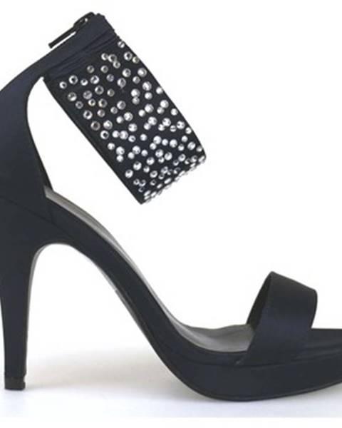 Modré sandále Haute Couture