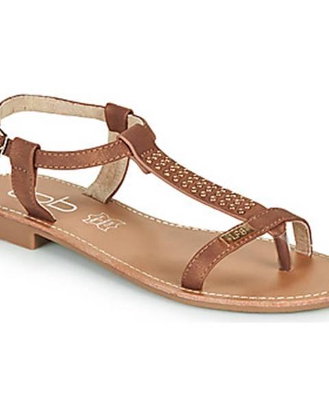 Hnedé sandále Les Petites Bombes