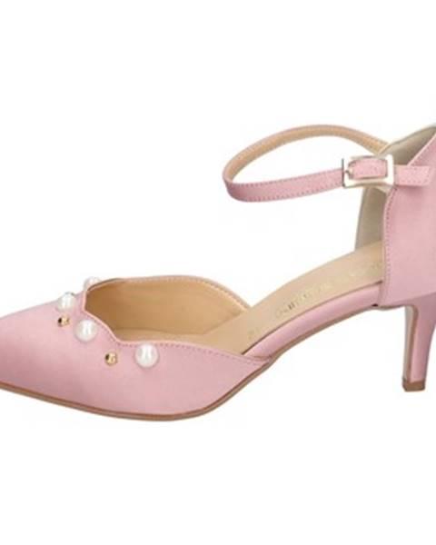 Ružové lodičky Olga Rubini