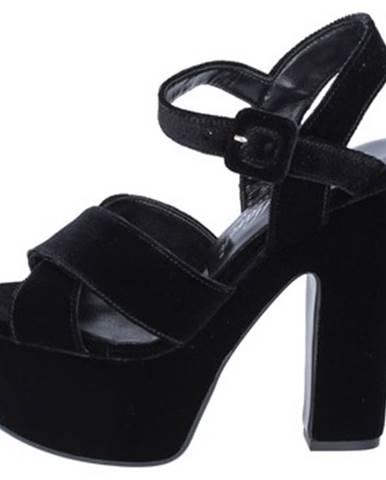 Čierne sandále David Haron