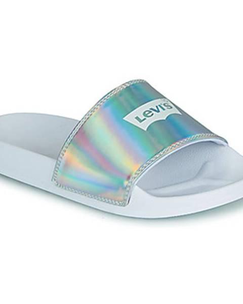Strieborné topánky Levis