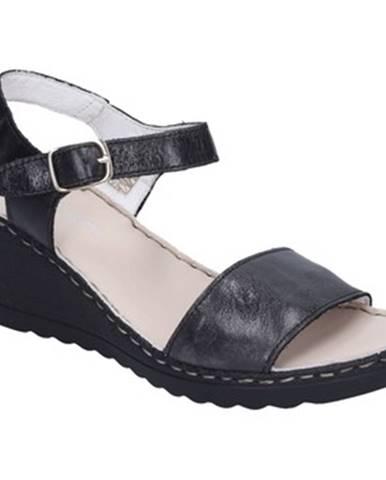 Čierne sandále Rizzoli