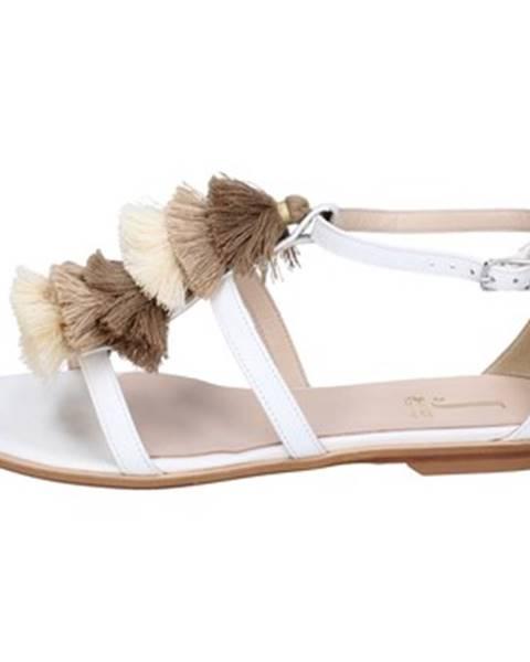 Biele sandále Jeannot