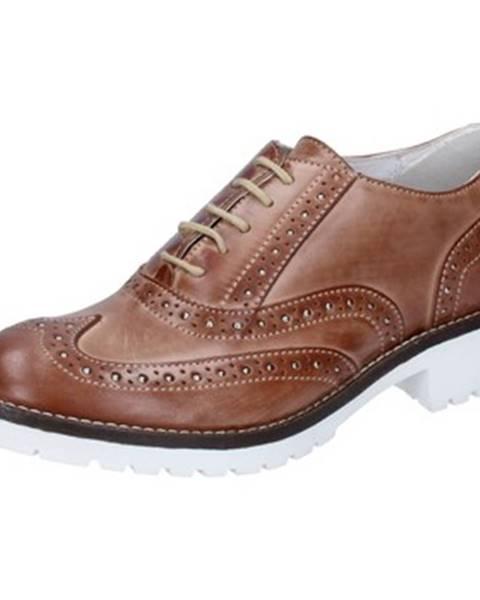 Hnedé topánky Crown