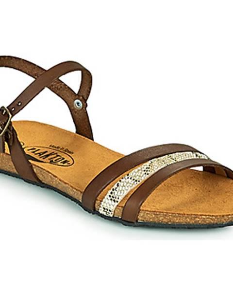 Hnedé sandále Plakton