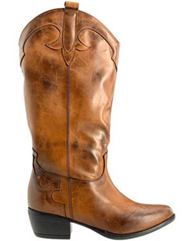 Hnedé polokozačky Grace Shoes