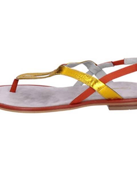 Oranžové sandále Carmens Padova