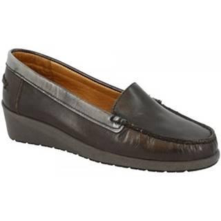 Mokasíny Leonardo Shoes  3002 VITELLO ABRASIVATO GRIGIO