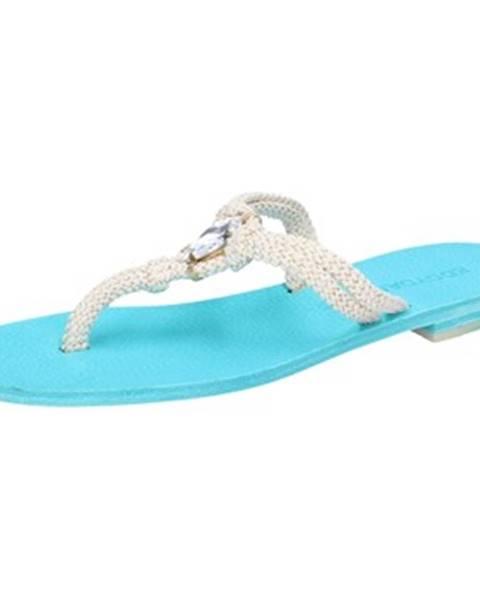 Biele sandále Eddy Daniele