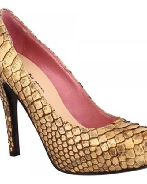 Hnedé lodičky Leonardo Shoes