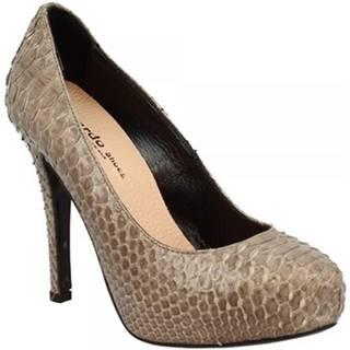 Lodičky Leonardo Shoes  RIOMAGGIORE PITONE GRIGIO