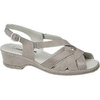 Svetlosivé kožené komfortné sandále Medicus