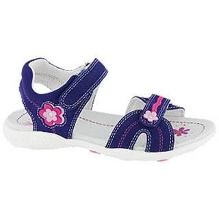 Tmavomodré kožené sandále na suchý zips Graceland