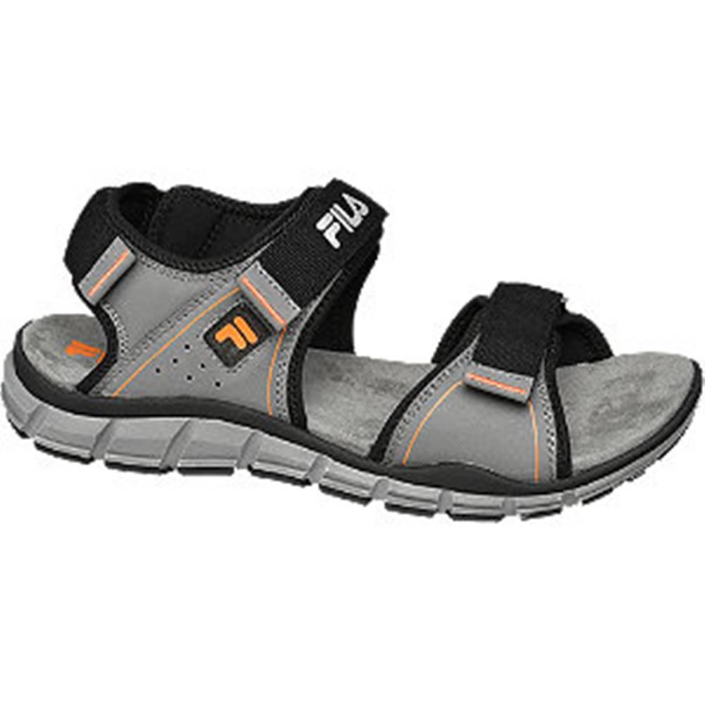 Fila Sivé sandále na suchý zips Fila