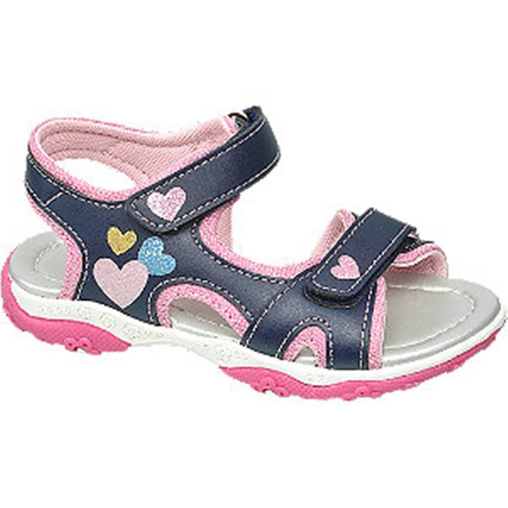 Tmavomodré sandále na suchý...