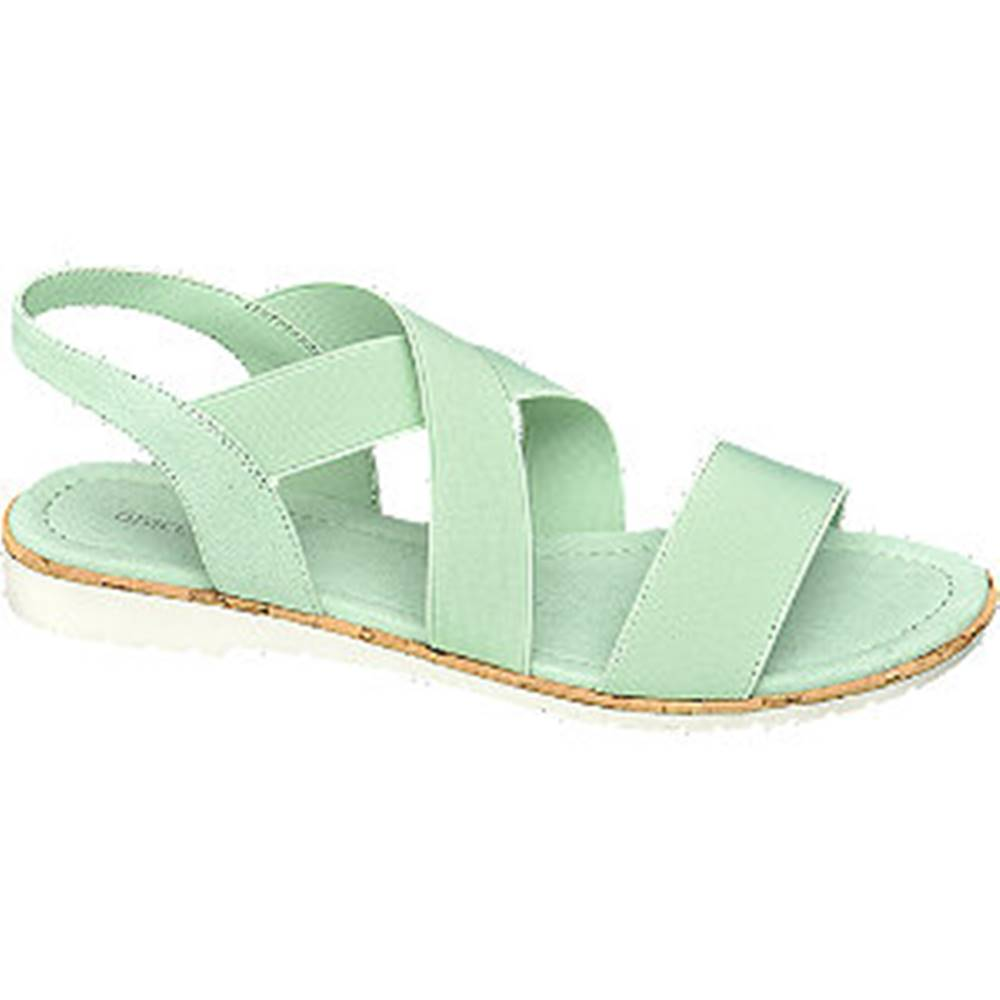Graceland Zelené sandále Graceland