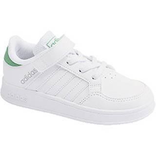 Biele tenisky na suchý zips Adidas Breaknet C