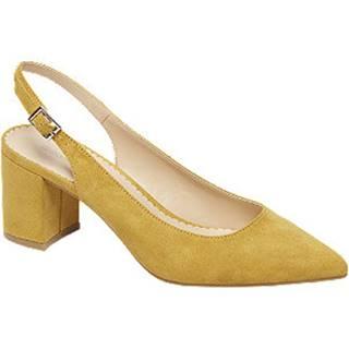 Žlté slingback lodičky Graceland