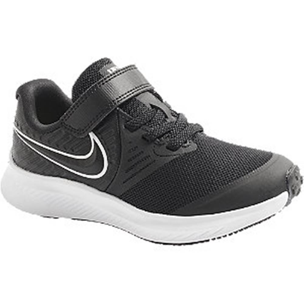 Nike Čierne tenisky na suchý zips Nike Star Runner 2